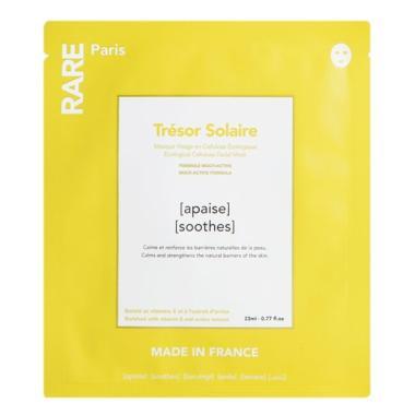 Успокаивающая и укрепляющая тканевая маска для лица  Rare Paris — Tresor Solaire